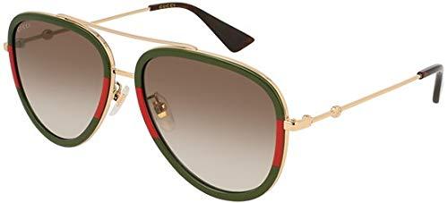 Gucci GG0062S 008 Gold GG0062S Pilot Sunglasses Lens Category 2 Size 57mm (Gucci Aviator-brillen)