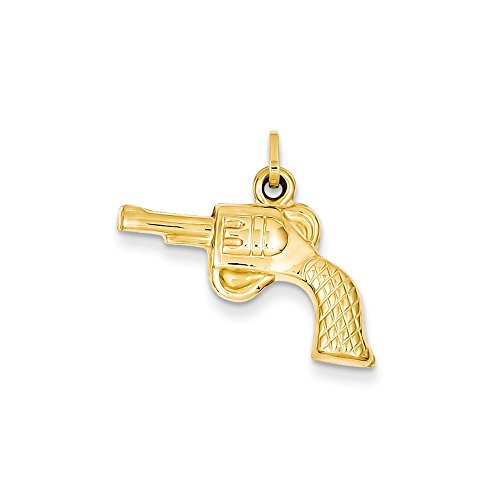 14k Yellow Gold Revolver Pendant Charm Necklace Western Fine Jewelry Gifts For Women For Her (Best Airsoft Shotgun 2019)