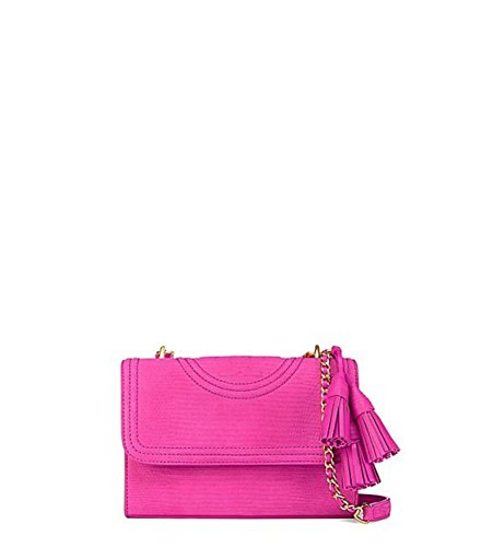 Tory Burch Fleming Snake Convertible Small Shoulder Bag in Hibiscus - Tory Burch Snake