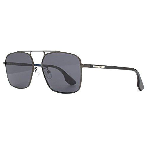 McQueen en Ruthenium Black ruthénium de noir Grey MQ0094S pilotes McQ soleil lunettes by 57 Alexander 001 carrées Zaxx8EH