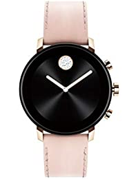 Connect 2.0 Unisex Powered with Wear OS by Google Stainless Steel and Pink Leather Smartwatch, Color: Pink (Model: 3660023)