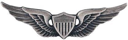 [해외]Army Aviator Badge Silver Oxide Finish Regulation Size / Army Aviator Badge Silver Oxide Finish Regulation Size