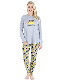 Frankie & Johnny Women's Sleepwear Food Themed Tunic and Legging Pajamas Set