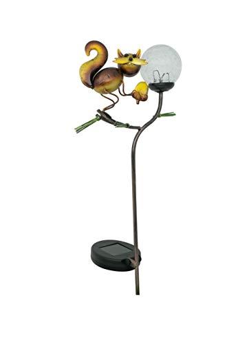 - Moonrays 96350 Crackle Squirrel Stake Light, Bronze