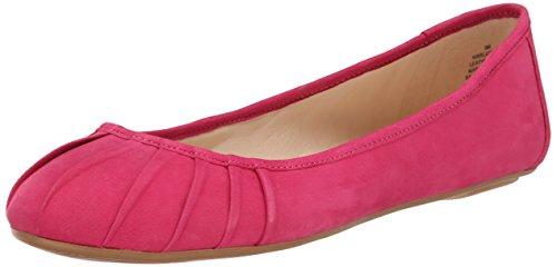 Nine West Women's Blustery Nubuck Ballet Flat, Pink, 7 M US