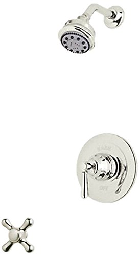 Country Bath Cross (Rohl RBKIT16XM-PN Kit Country Bath Verona Pressure Balance Shower Package in Polished Nickel with Cross Handle Includes B240NSH 1440/6 and ARB1400XM)