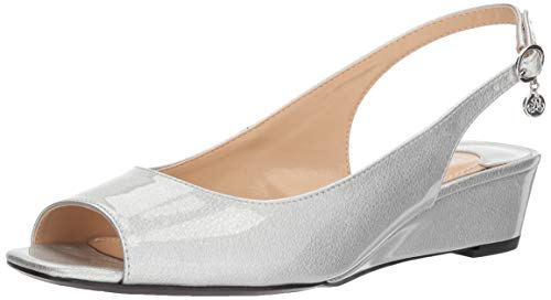 J. Renee Women's Alivia Pump, Silver/Metallic, 7.5 W US
