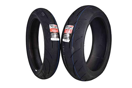 Full Bore Super Bike F2 Tire Set (1 Front 120/70ZR17 & 1 Rear 190/50ZR17) pair tires 120/70-17 190/50-17 (190 50zr17 Motorcycle Tire)