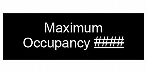 ComplianceSigns Acrylic Custom Engraved Maximum Occupancy Sign, 8 x 3 in. Black by ComplianceSigns
