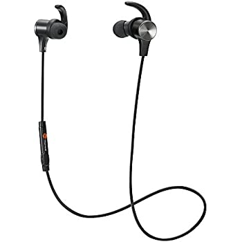 Bluetooth Headphones, TaoTronics Wireless 4.2 Magnetic Earbuds, Snug Fit for Sports with Built in Mic TT-BH07 (IPX6 Waterproof, aptX Stereo, 6 Hours Playtime, cVc 6.0 Noise Cancelling Microphone)