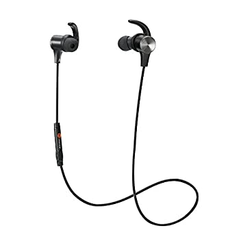 Wearing a NecklaceNew TaoTronics TT-BH07U (Upgraded Version) headset lets you enjoy great sounds on-the-go. Comfortable and snug fit make sure the headset stays put when you are out running, jogging or exercising. When you are done with your music, s...