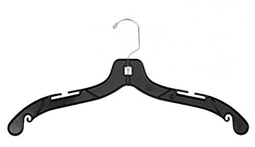 Black Plastic Dress Hangers (NAHANCO 2900 Middle Heavy Weight Plastic Dress Hangers, 19