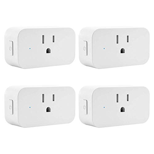 Smart Plug With ETL Listed, WiFi Plug in Switch Compatible With Amazon Alexa and Google Home, Remote Controlled, Timer Controlled, No Hub Required 4 Pack