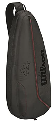Wilson Federer Team Supersling Tennis Bag Black/Red - Wilson Zaino Tennis Nero