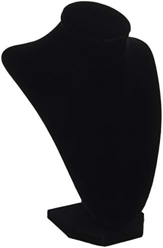 Darice 1999-084 3-Dimensional Velvet Jewelry Stand, 9-Inch, Black