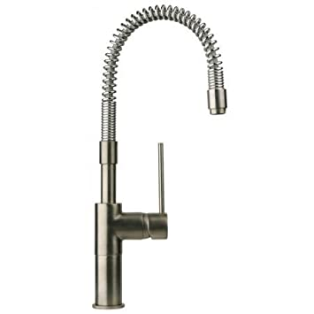La Toscana 78PW558 Elba Pre-Rinse Kitchen Faucet, Brushed Nickel ...