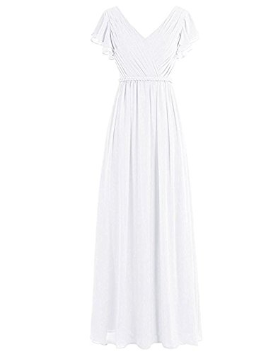 of A the Kleid Weiß Beauty Damen Leader Linie 8CqdUCw