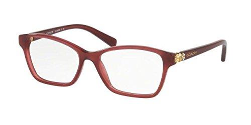 Coach HC 6091B 5398 Milky Black Cherry Plastic Square Eyeglasses 51mm by Coach