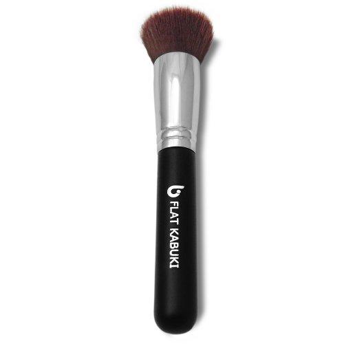 Flat Top Kabuki Brush par Junkees de beauté: Parfait pinceau fond de teint liquide, obtenir une couverture complète de maquillage à chaque fois, végétaliens, Fonctionne avec les crèmes, poudres, liquides, et le maquillage minéral. Synthétique dense soies