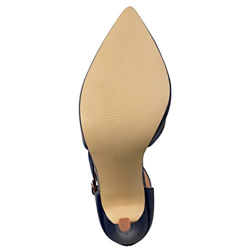Journee Collection Womens Classic T-strap Pumps Navy 5HPJKHl