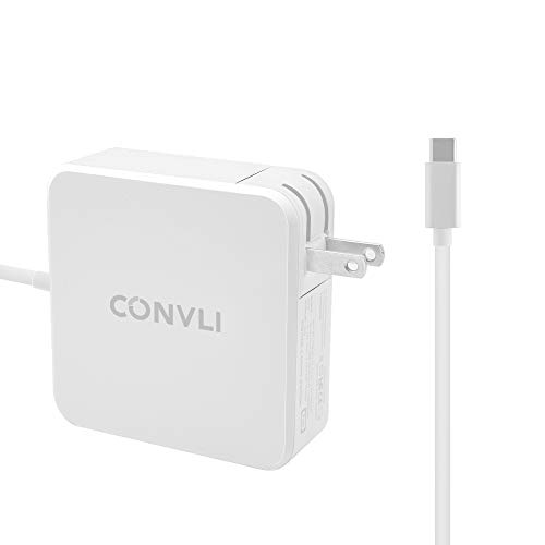 CONVLI Compatible 87W USB-C Power Adapter Charger,if Applicable MacBook Pro 15'' and Other USB-C Devices by CONVLI