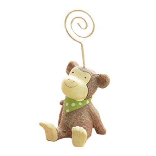 Monkey Holder Card (Adorable Baby Monkey ZAKKA Cute Memo/Message/Photo Holder Clip Desk Accessories)
