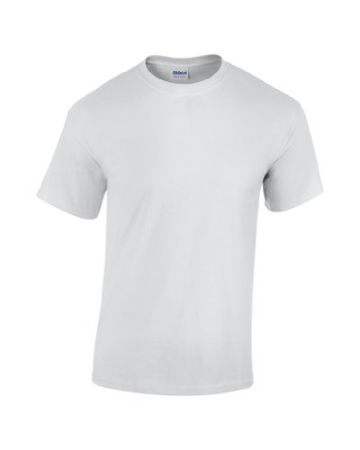 Gildan heavy-homme-coton-t shirt manches courtes-homme-blanc-taille large-livraison gratuite