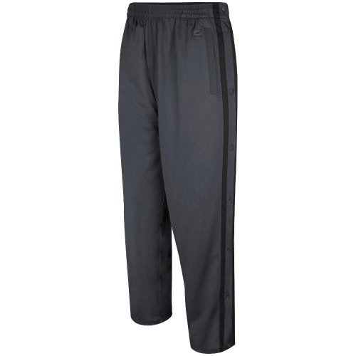Colosseum Mens Tearaway Athletic Pants (Charcoal/Black) (XX-Large) (Track Pants With Buttons On The Side)