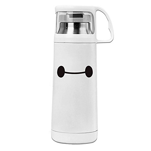 Big Hero 6 Baymax 304 Stainless Steel ABS Thermos Vacuum Insulated Coffee Mug With Handle