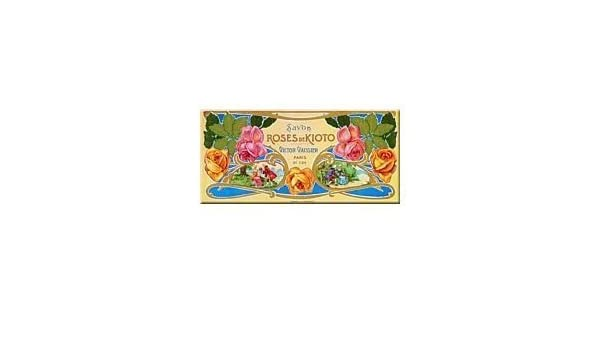 Kioto French Advertising Savon Soap Roses Sign
