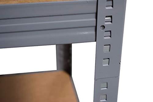Haushaltsregal Shelf Creations Expert Schwerlastregal in grau 180x90x60 cm mit 4 B/öden Steckregal aus Metall verzinkt: Lagerregal geeignet als Kellerregal Ordnerregal Archivregal Werkstattregal