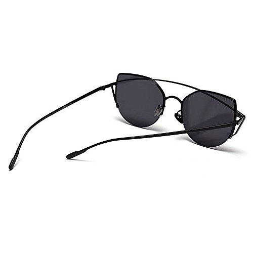 para Color Full Peggy Gris Cat Vacaciones Protección Rimmed Gu Playa UV la Verano de Aire Marrón Libre Graceful de Conducción Sol Mujeres Eyes al Gafas Metal para CqSq6