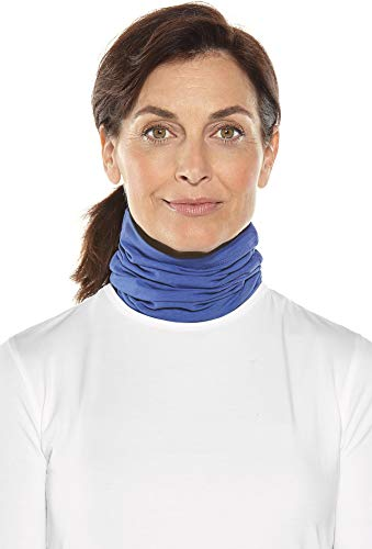 Coolibar UPF 50+ Unisex Sun Neck Gaiter - Sun Protective (Large/X-Large- Empire Blue) by Coolibar (Image #1)