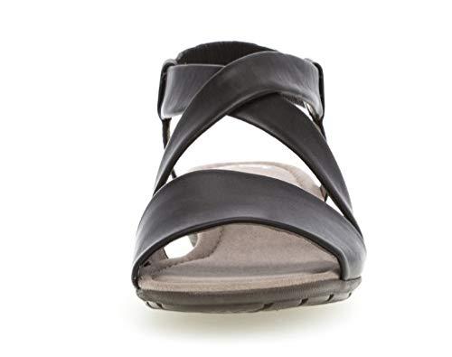 Verano 550 sandalias sandalias Mujer best übergrößen Gabor sandalias cómodo Schwarz Cuña zapatos plana Del Fitting Cuña 24 De PfqwF