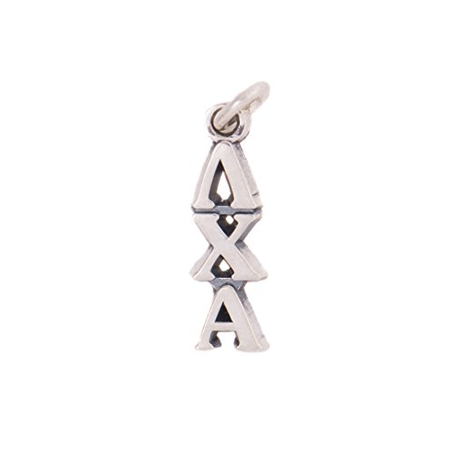 Lambda Chi Alpha Fraternity Letter Sterling Silver or 14k Gold Lavalier Necklace with Chain (Silver)