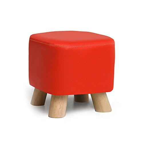 China-Stool Solid Wood Shoes Stool Fashion Creative Party Fabric Sofa Tea Table Bench Home Stool 4 Styles(28cmX25cm) /& (Color : Red)