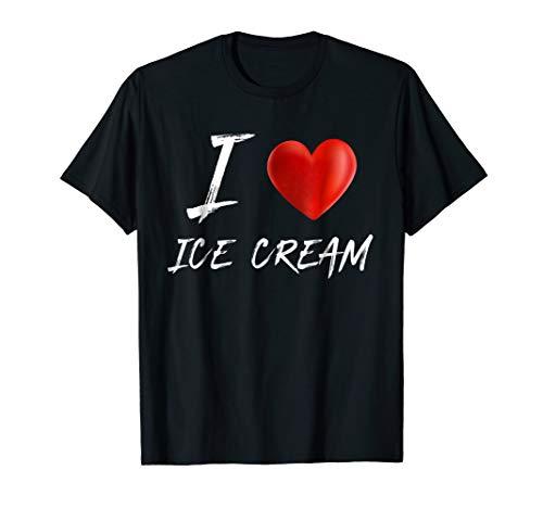 I Love Heart ICE CREAM Food Foodie T Shirt ()