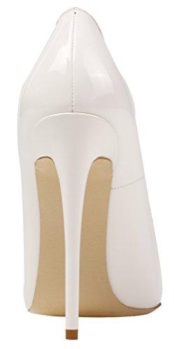 Weiß Lackleder Escarpins AOOAR Femme pour AP09N wgHIp1