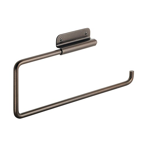 InterDesign Swivel Paper Towel Holder for Kitchen - Wall Mount/Under Cabinet, Bronze