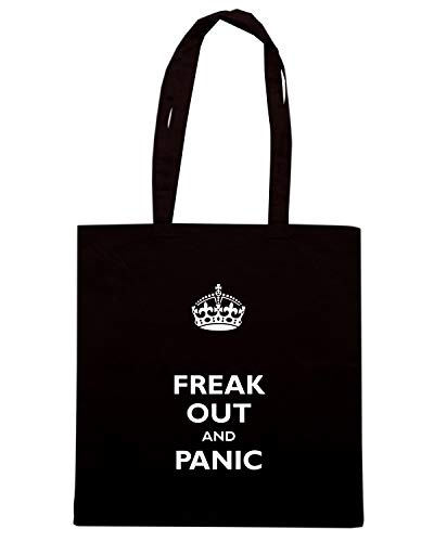 Speed Shirt Borsa Shopper Nera TKC3763 FREACK OUT AND PANIC