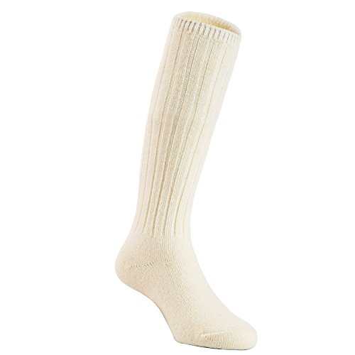 Boot Inch 4 1/2 Knee (Lian LifeStyle Unisex Baby Children 3 Pairs Knee High Wool Blend Boot Socks Size 2-4Y (Cream White))