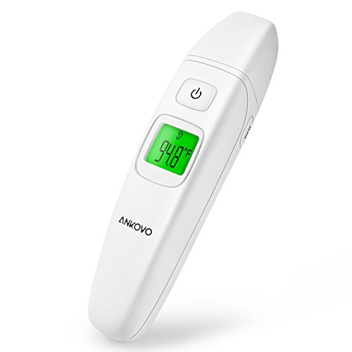 ANKOVO Medical Thermometer Ear Forehead Digital Clinical Upgraded Infrared Accuracy Baby Kids Adults CE and FDA Approved Image