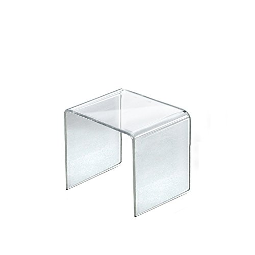 Count of 4 New Retail Clear Acrylic Riser Square Display 5.5''W x 5.5''H x 5.5''D