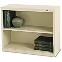 TENNSCO B30PY Metal Bookcase, Two-Shelf, 34-1/2w x 13-1/2d x 28h, Putty