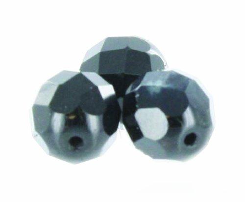 (Top Brass Glass Bead (10-Pack), 10mm, Black)