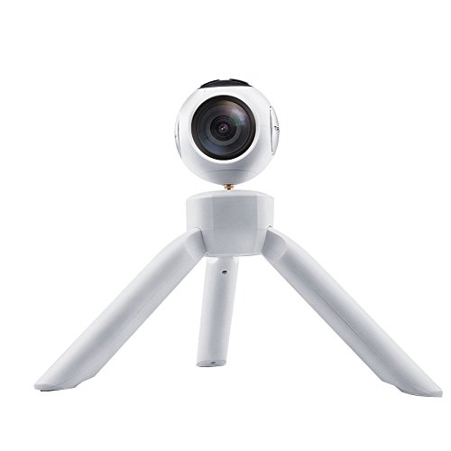 OTHAT 360°Ultra HD 4K Panoramic Camera Build in WI-FI With a Portable Power Supply Function of the Mini Tripod Supports Over 5 Hours' Continuous Shooting -White Action Cameras