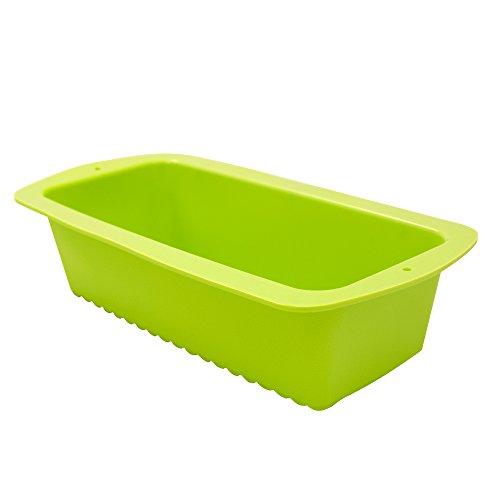 Marathon Premium Silicone Loaf/Bread Pan, Color-Green. SKU-KW200009GR (Loaf Green Pan)