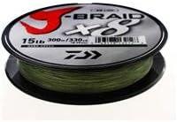 Daiwa J-Braid X8 0,22mm 17Kg 300m green Geflochtene Schnur
