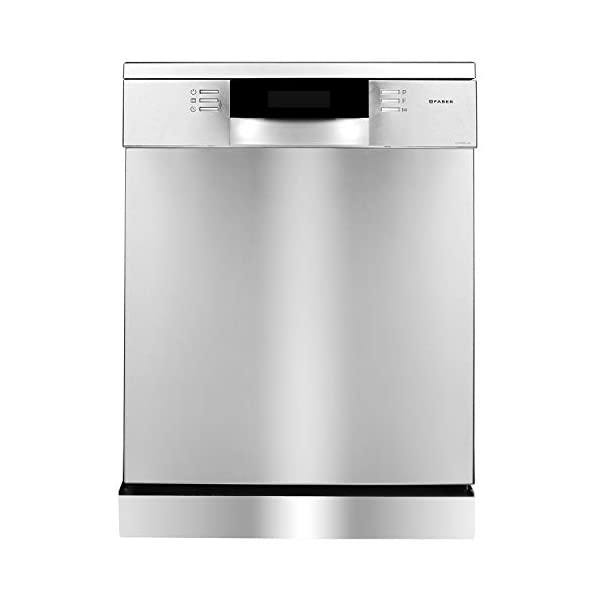 Faber 14 Place Settings Dishwasher (FFSD 8PR 14S, Inox Finish, Power 3D Wash for Tough Stains, Silent operation)