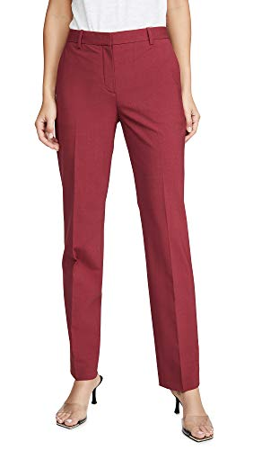 Theory Women's Tailored Trouser, Light Cranberry, Red, 10